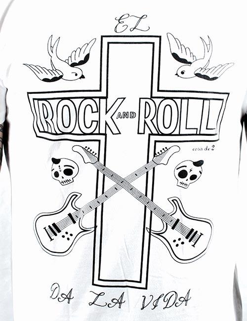 """Camiseta """"El Rock and Roll da la vida"""""""