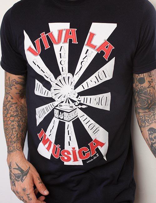 """Camiseta """"Viva la música"""""""