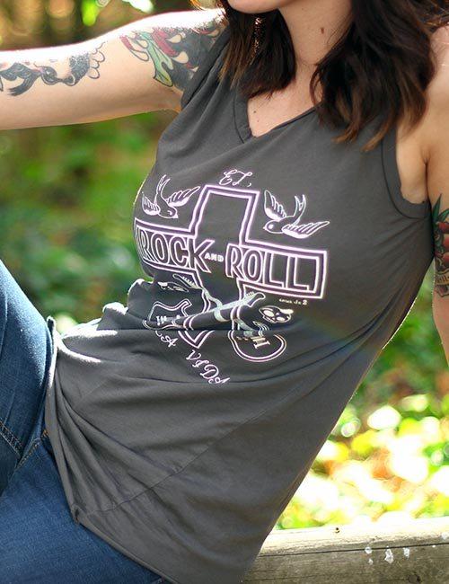 """Camiseta de tirantes """"El Rock and Roll da la Vida"""""""