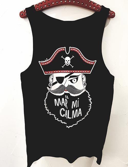 "Camiseta de tirantes unisex ""El mar mi calma"""