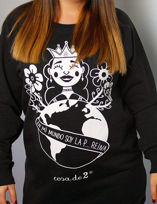 """Sudadera chica """"En mi mundo soy la reina"""""""