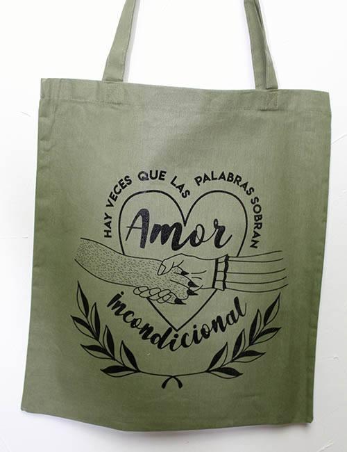 "Tote Bag ""Amor incondicional"""