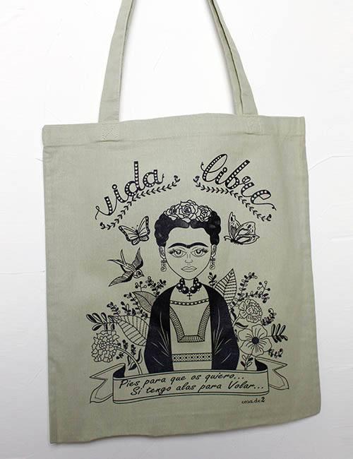 "Tote Bag ""Vida libre Frida Kalho"""