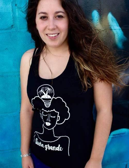 Camiseta de tirantes «Sueña Grande»